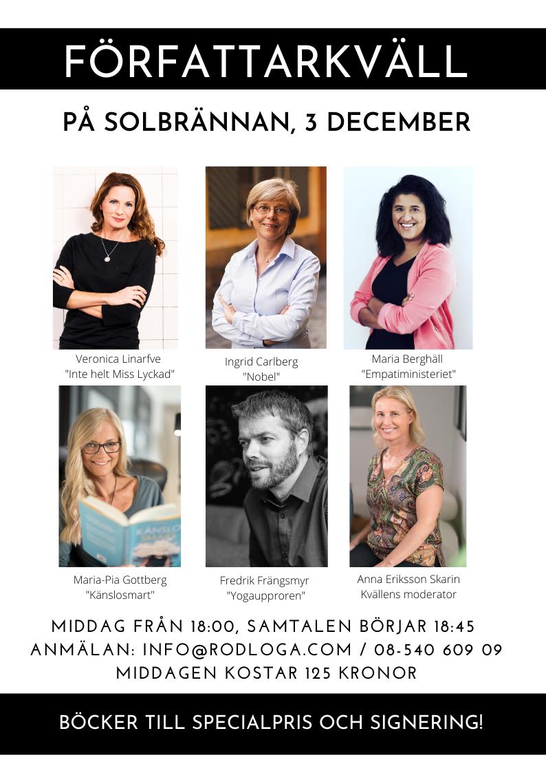 Författarkväll 3 December